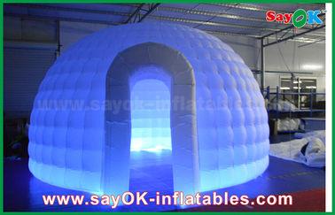 中国 210Dオックスフォードの布の膨脹可能なイグルーの空気テントのLEDライトが付いている円形のドームのテント サプライヤー
