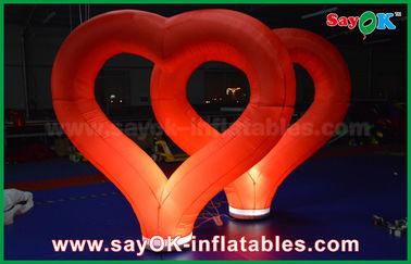 中国 LEDライトが付いている結婚の屋外の膨脹可能な装飾の赤いナイロン膨脹可能な中心 サプライヤー