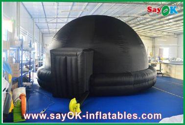 中国 黒く膨脹可能なプラネタリウム、耐久の膨脹可能な投射のテントの可動装置の映画館 サプライヤー