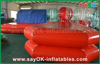 中国 赤いポリ塩化ビニール膨脹可能な水プールの空気子供の遊ぶことのための堅い水泳の池 工場