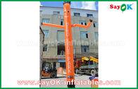 中国 屋外広告のためのセリウムの送風機を持つを持つ赤く/オレンジ/青の膨脹可能な空気ダンサー/空のダンサー 工場