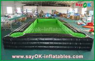 中国 セリウムの送風機が付いている携帯用巨大な外ポリ塩化ビニールの防水シートの膨脹可能なサッカー/テーブルのテニス コート 工場