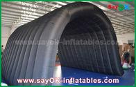 中国 野外活動のための黒い210Dオックスフォードのトンネルの膨脹可能なキャンプ テント 工場