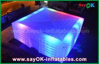中国 党のためのLEDの照明の巨大な白210 Dオックスフォードの膨脹可能な空気テント 工場