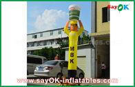 中国 広告のための黄色く膨脹可能な空気ダンサーの炊事道具、膨脹可能な空のダンサー 工場