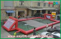 中国 巨人0.5mmポリ塩化ビニールの防水シートの膨脹可能なフットボール競技場、携帯用膨脹可能なサッカー競技場 工場