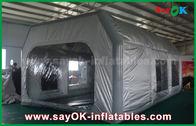 中国 Prefessional車の絵画のための灰色の防水ポリ塩化ビニールおよびオックスフォードの布の膨脹可能なペンキ ブース 工場
