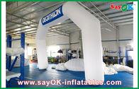 中国 イタリアの青/白く膨脹可能なアーチ 6mL x オックスフォードの布およびポリ塩化ビニールのコーティングとの 4mH 会社