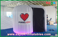 中国 白は Photobooth 膨脹可能な 210D オックスフォードの布および LED ライトを円形にしました 会社