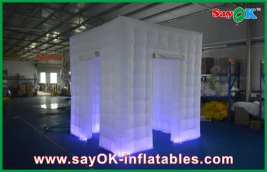 注文の白く膨脹可能な写真ブースの貝のエンクロージャの膨脹可能な立方体のテントのポータブル