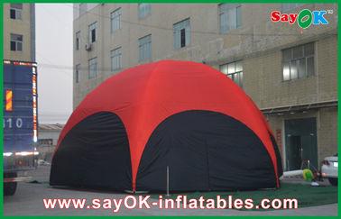 3 つの M の赤い六角形の職業のための大きい屋外の膨脹可能なテント ポリ塩化ビニール