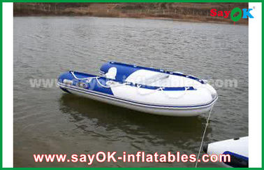 青/白はポリ塩化ビニールの膨脹可能なボートをヒート シールしました堅い水競争が防水する