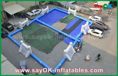 耐久の防水シートの膨脹可能なフットボールの運動場、携帯用膨脹可能なサッカー競技場