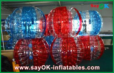 透明なポリ塩化ビニール/TPUの大人/子供のための膨脹可能なサッカーの泡人間の球