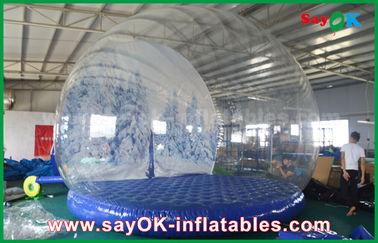 3m Diaの広告のための膨脹可能な休日の装飾/透明で膨脹可能なChrismasの雪の地球