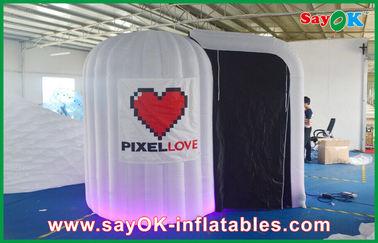 白は Photobooth 膨脹可能な 210D オックスフォードの布および LED ライトを円形にしました