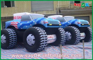 青 5M の Adversting のための膨脹可能なジープ車 210D オックスフォードの布
